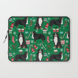 Bernese Mountain Dog christmas dog breed gifts mittens stockings presents candy canes Laptop Sleeve