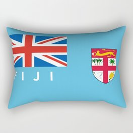 Fiji country flag name text Rectangular Pillow