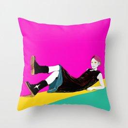 sae-pink Throw Pillow