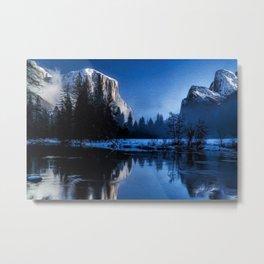 El Capitan Yellowstone Winter Landscape Metal Print