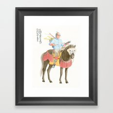 Don't be shy, read! Framed Art Print