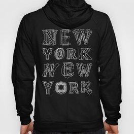 New York black and white Hoody