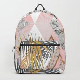 Marbled tropical geometric pattern I Backpack