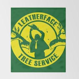 Leatherface Tree Service Throw Blanket