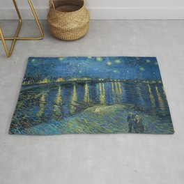 Vincent Van Gogh Starry Night over the Rhone 1888 Rug