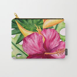 Tropical Hibiscus Summer Bouquet Carry-All Pouch