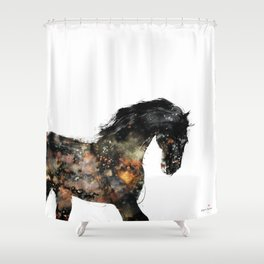 Horse portrait (Distant Galaxy) Shower Curtain
