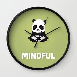 Mindful panda levitating Wall Clock