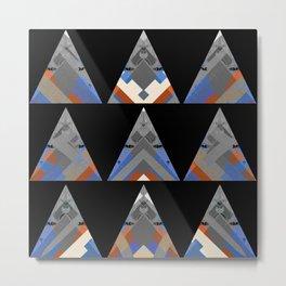 Triangular Ancestors NeoTribal Oil Geometric Metal Print