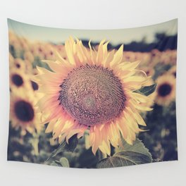 """""""Sunflowers"""" Vintage dreams. Square Wall Tapestry"""