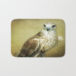 The Saker Falcon Stare Bath Mat