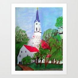 Kirche von Ergolding Art Print