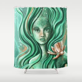 Submerged Waterlilly Shower Curtain