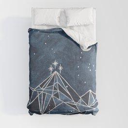 Night Court moon and stars Comforters