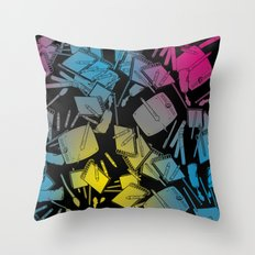 CMYK Throw Pillow
