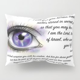 Galaxy eye - Isaiah 45, 3 Pillow Sham