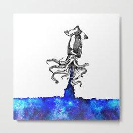 Space squid Metal Print