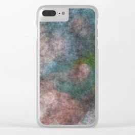 stained fantasy dark forest Clear iPhone Case