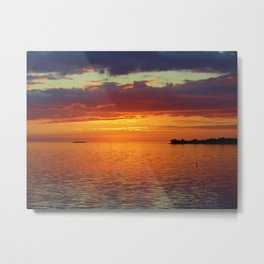 Cedar Key Sunset Metal Print