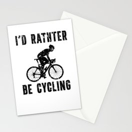 Id Rather Be Cycling Bicycle Bike  Stationery Cards