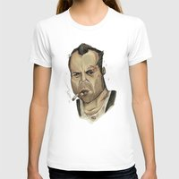 die hard T-shirts featuring Die Hard - John McClane by Adam Dunt