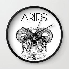 Aries Rams Wall Clock