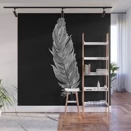 Light white feather Wall Mural