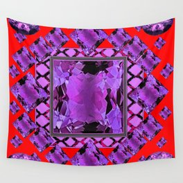 RED PURPLE AMETHYST FEBRUARY GEM BIRTHSTONE MODERN ART Wall Tapestry