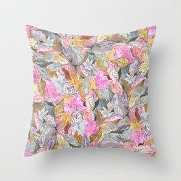 Foliage Pattern v3 Throw Pillow