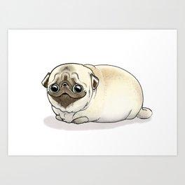 Cutie Pug Art Print