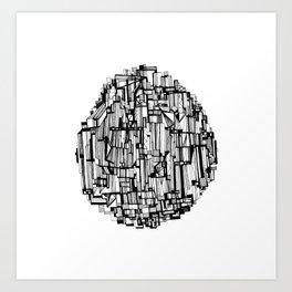 The Round Skyscraper Art Print