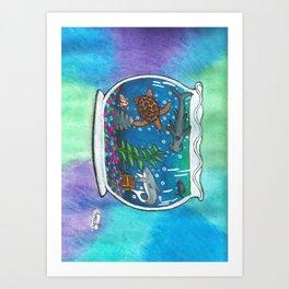 A Bowl Of The Ocean Art Print