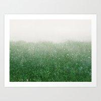The green field Art Print