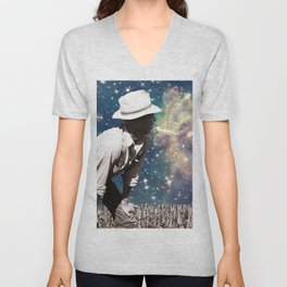 People of the Universe-Astro Farmer in Yellow Unisex V-Neck