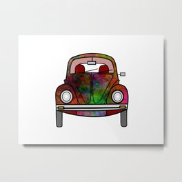 Psychedelic Transportation Metal Print