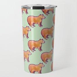 Capybara Pattern Travel Mug