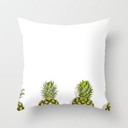 The Pineapples (Color) Throw Pillow