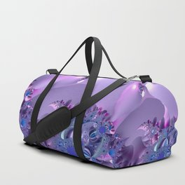 Stormy fractal waters and the lighthouse Duffle Bag