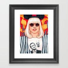 jazz art pop punk Framed Art Print