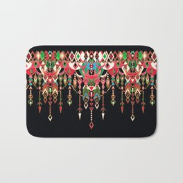Modern Deco in Red and Black Bath Mat