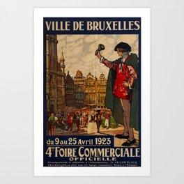 Ville de Bruxelles Travel Poster Art Print