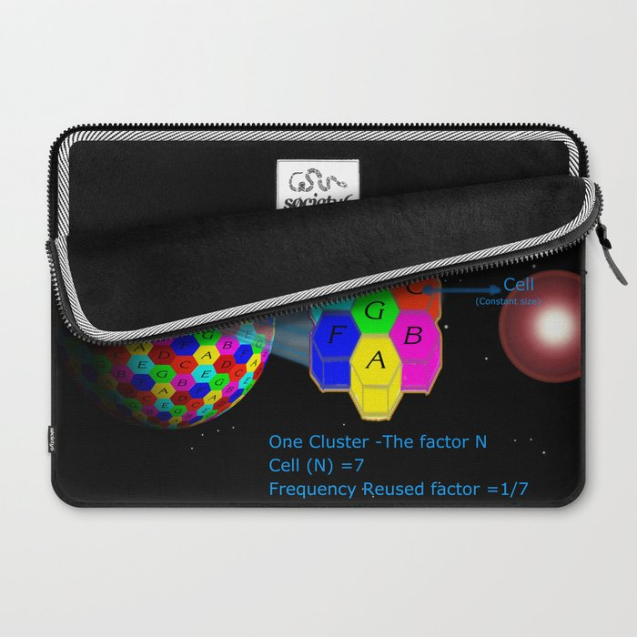 Network reused frequency Laptop Sleeve