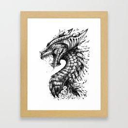 Dragon's Outrage Framed Art Print