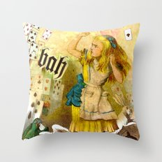 alice annoyed Throw Pillow