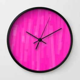 Geometric Pink White Painting Wall Clock