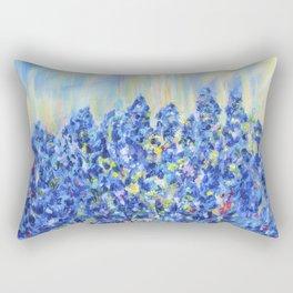 Lavender after the rain, flowers Rectangular Pillow