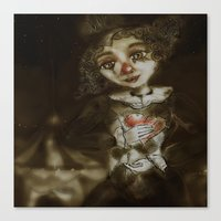 clown Canvas Prints featuring clown  by AliluLera