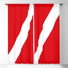 Diving flag Blackout Curtain