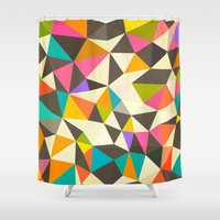 mod Shower Curtains featuring Mod Tris by Beth Thompson