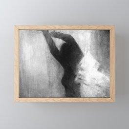 Black white woman figure Framed Mini Art Print